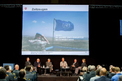October 2014: Podiumsleitung 25 Jahre UNO-Einsätze Schweizer Armee - Leading a panel celebrating 25 years of Swiss UN-Peace missions.